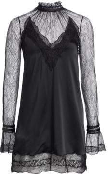 Jonathan Simkhai Satin and Lace Mini Dress