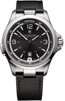 Victorinox Mens Nightvision Stainless Steel Watch