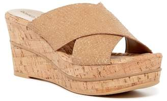 Donald J Pliner Dani Snake Embossed Leather Wedge Sandal