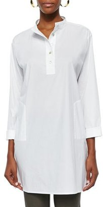 Eileen Fisher Stretch Easy Big Shirt, White $218 thestylecure.com