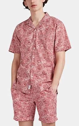 Onia Men's Vacation Edwin Paisley Cotton Shirt - Red