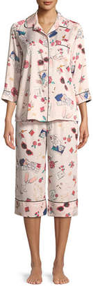 Kate Spade Dotted Cropped Pajama Set