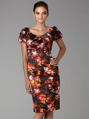 Versace Floral Prism Silk Dress