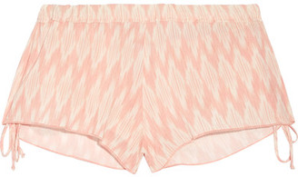 Eberjey - Morgan Printed Voile Shorts - Blush $120 thestylecure.com