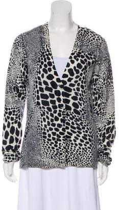 Magaschoni Printed Cashmere Cardigan