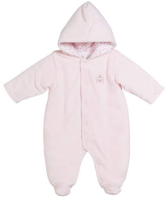 Kissy Kissy Queen of the Castle Velour Footie Bunting, Size 0-9 Months