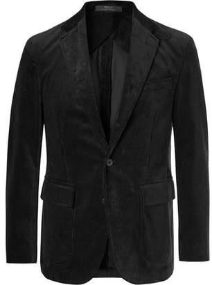 Polo Ralph Lauren Black Morgan Slim-Fit Unstructured Cotton-Corduroy Blazer