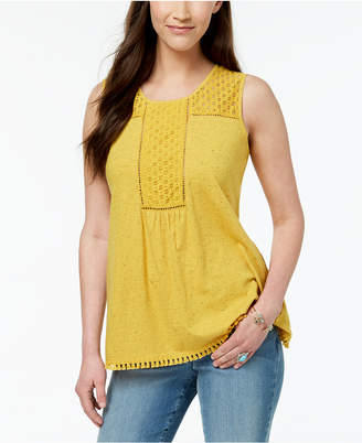 Style&Co. Style & Co Crochet-Trim Tank Top, Created for Macy's