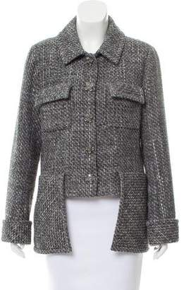 Chanel Woven Button-Up Jacket