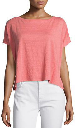 Eileen Fisher Short-Sleeve Poncho Box Top, Yarrow $98 thestylecure.com