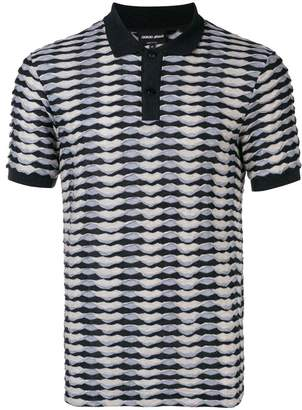 Giorgio Armani abstract print polo shirt