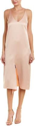 Tibi Celestia Silk-Blend Slip Dress