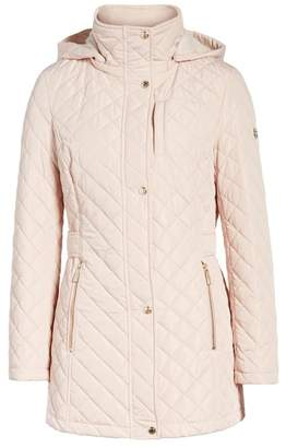 Calvin Klein Faux Fur Lined Hood Quilted Jacket