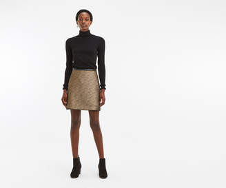 Oasis POPPY GOLD TWEED SKIRT