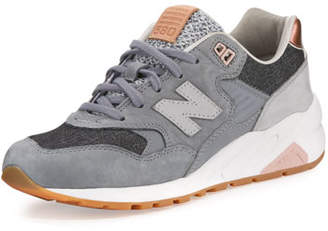 New Balance 580 Suede Low-Top Sneakers, Gray