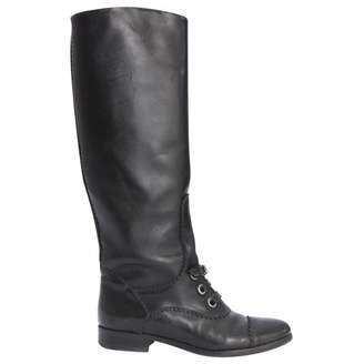 Carven Black Leather Boots