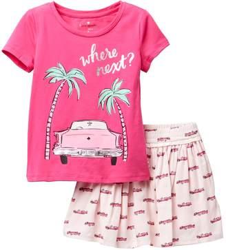 Kate Spade where next tee and skirt 2-piece set (Toddler & Little Girls)