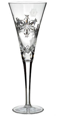 Waterford Snowflake Wishes Crystal 8 oz. Champagne Flute