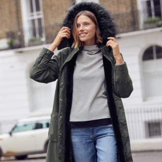 The White Company Faux-Fur Lined Parka Coat
