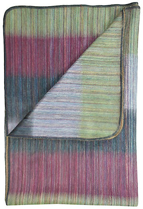 Patchwork Alpaca Throw - Green - Shupaca