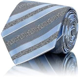 Brioni Men's Striped Textured Silk Necktie