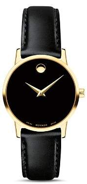 Movado Museum Classic Yellow Gold-Tone Case Watch, 28mm