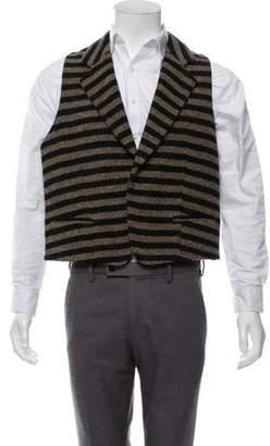 Haider Ackermann Striped Wool Vest