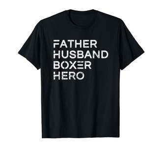 Boxer Dad Boxing Gift Tshirt Mens Father Husband Boxer Hero Daddy Father's Day Gift T-Shirt
