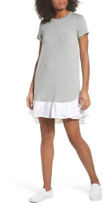 Chelsea28 Eyelet Trim T-Shirt Dress