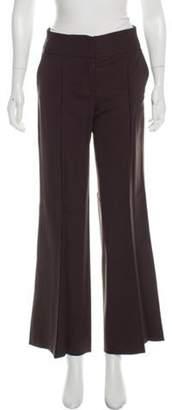 Diane von Furstenberg Virgin Wool Mid-Rise Pants Brown Virgin Wool Mid-Rise Pants