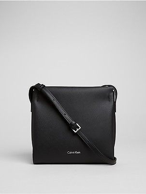Calvin Klein Calvin Klein Womens Saffiano Crossbody Bag Black