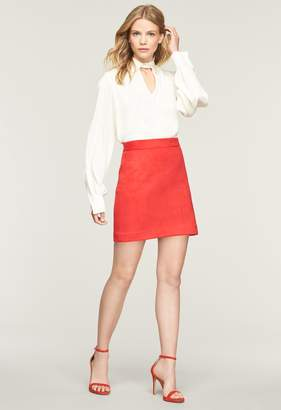 Milly Bonded Faux Suede Modern Mini Skirt