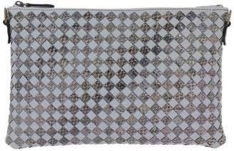Bottega Veneta Mini Bag Shoulder Bag Clutch Model In Genuine Leather With Bicolor Woven Pattern
