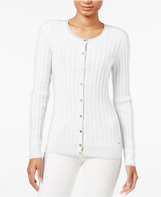 Tommy Hilfiger Frida Cable-Knit Cardigan, Only at Macy's $59.50 thestylecure.com