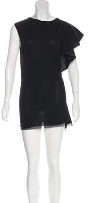 Lanvin Ruffle-Accented Mini Dress