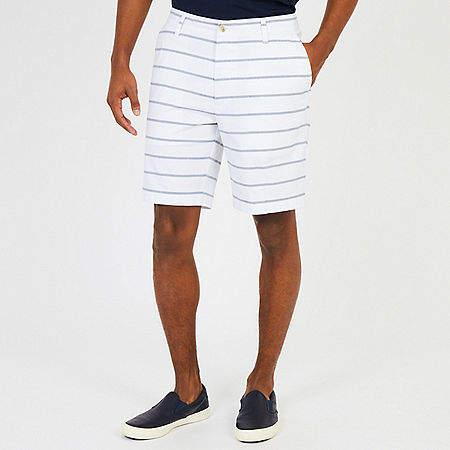 Oxford Stripe Stretch Twill Walking Shorts - 8.5