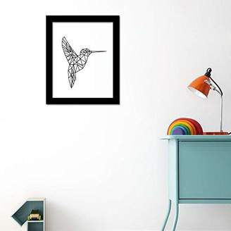 Camilla And Marc WALPLUS Bird Art Canvas Printing Wall Sticker, Vinyl, Multi-Colour, 40 x 30 x 5 cm