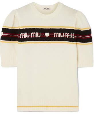 Miu Miu - Jacquard-knit Wool Sweater - Ivory