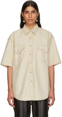 BEIGE Nanushka Denim Seymour Shirt