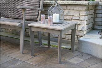 Outdoor Interiors Grey Wash Eucalyptus End Table