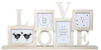 Wooden Love Photo Frame with 4 Frames