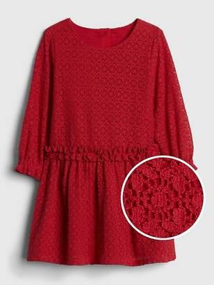 Gap Lace Ruffle Dress