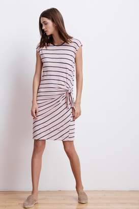 Velvet by Graham & Spencer BELLAMY STRIPE TEXTURED KNIT KNOT DRESS
