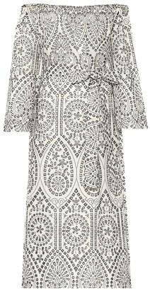 Lisa Marie Fernandez Embroidered cotton midi dress