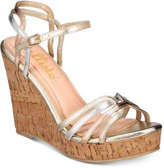 Callisto Brush Strappy Platform Wedge Sandals Women's Shoes