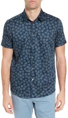 Ted Baker Tern Geo Print Sport Shirt