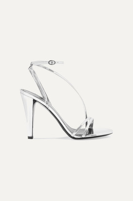 Isabel Marant Alta Metallic Leather Sandals - Silver