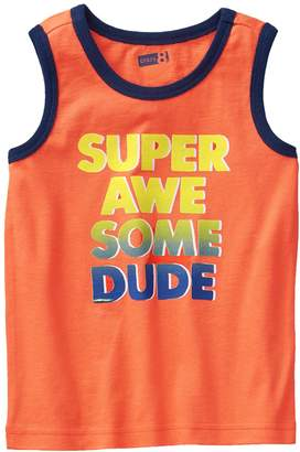 Crazy 8 Crazy8 Toddler Super Awesome Dude Tank