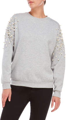 Romeo & Juliet Couture Romeo + Juliet Couture Pearl Accented Pullover