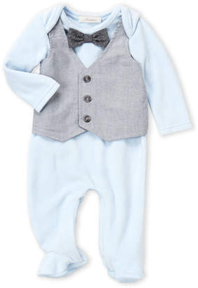 Baby Essentials Miniclasix (Newborn Boys) Vested Velour Bodysuit